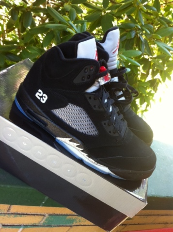 new product ecc22 7eebf Air Jordan V Black/Metallic Silver-Fire Red tomorrow 8.20.11 ...